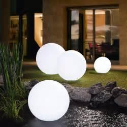 leuchtkugel garten 50 cm led akku leuchtkugel 3 jahre garantie pro idee