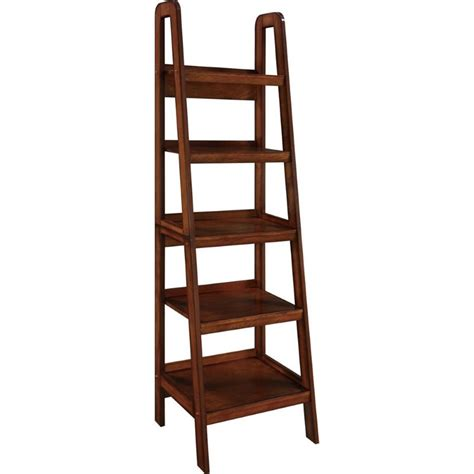 Altra Ladder Bookcase Altra Furniture Platform Ladder 5 Shelf Bookcase In Mahogany Ebay