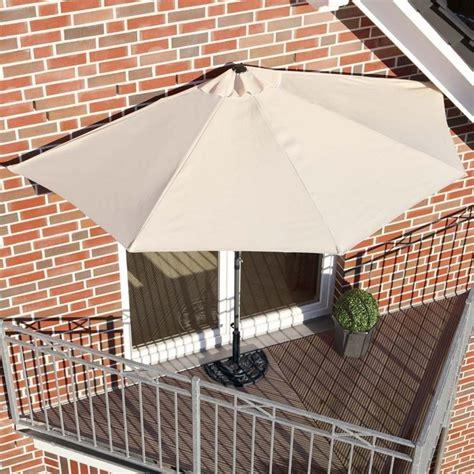 ombrelloni per terrazzo ombrellone da parete per balcone o terrazzo mezzaluna beige