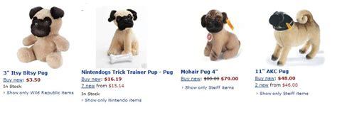pug nintendogs pugs dogbreed gifts stuffed pugs plush