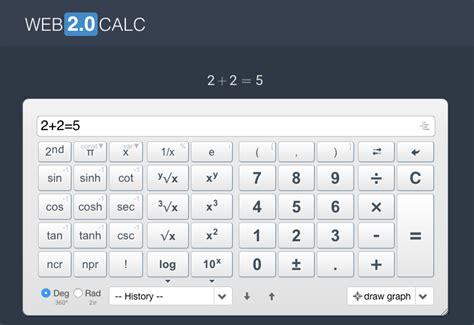 calculator online mod web 2 0 taschenrechner