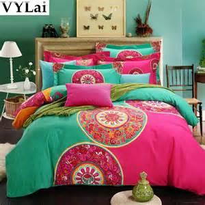 Bohemian Duvet Bedding Sets Aliexpress Buy Organic Cotton Luxury Boho Bedding