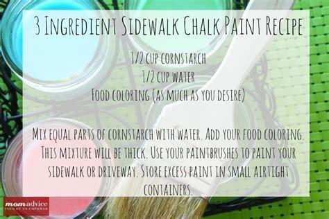 Sidewalk Chalk Recipe 171 Momadvice