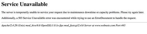 503 service unavailable how to fix http error 503 service unavailable 187 webnots