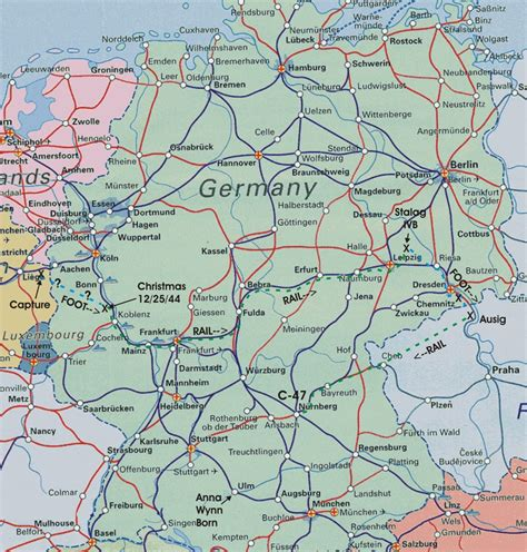 trains germany map germany rail map