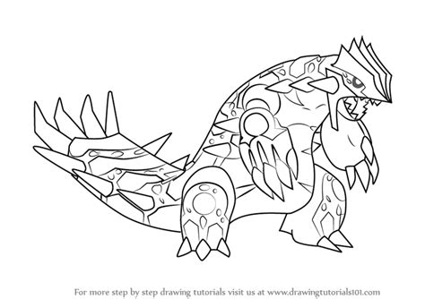 pokemon coloring pages primal groudon learn how to draw primal groudon from pokemon pokemon