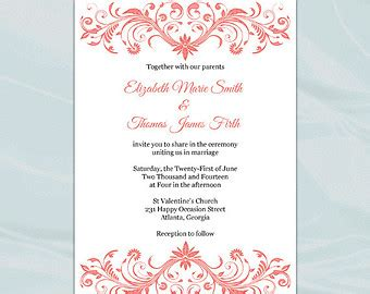 invitation card template pdf invitation card format image collections