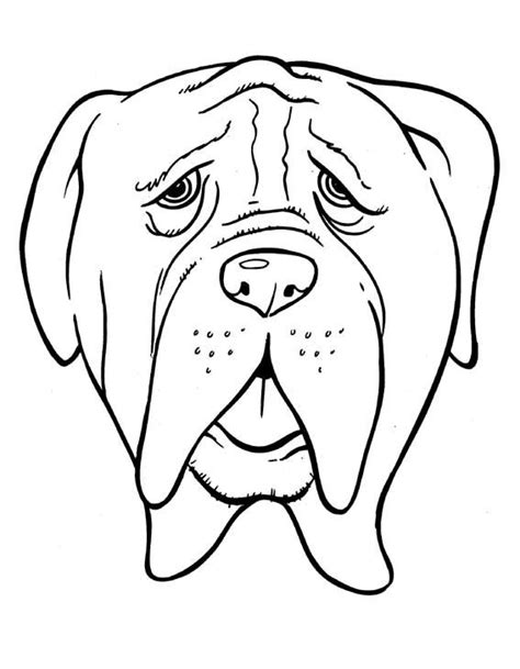 imagenes de perros para colorear free coloring pages of bulldog dibujo