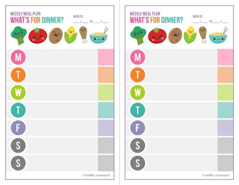printable meal planner for toddlers free printable dinner planner free printables and more