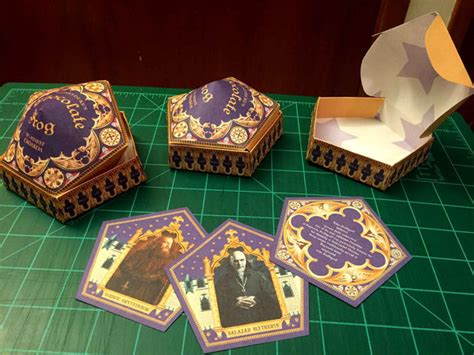 chocolate frog box template with cards honeyduke s chocolate frog cards