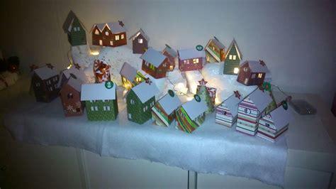 adventskalender dorf basteln weihnachtsdorf als adventskalender eure ph 246 nix