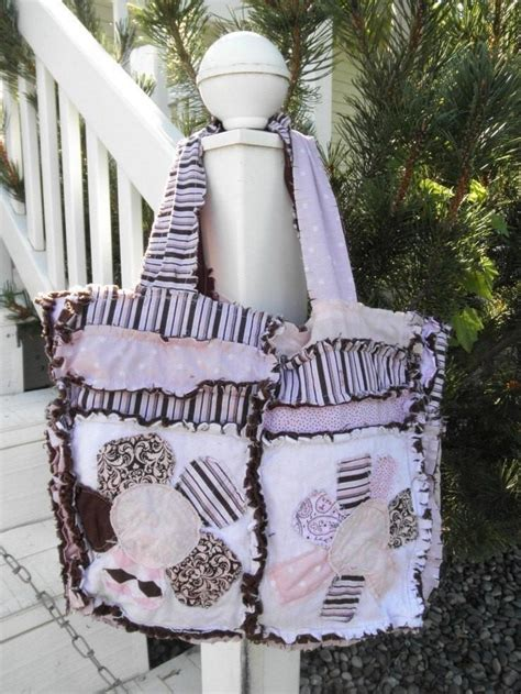 rag tote bag pattern rag purse pattern for baby diaper bag sewing tutorial a