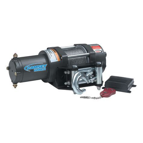 Winch Bull4x4 8000 Lbs 12 Volt 4 Ton ramsey patriot 12 volt front mount winch with wireless