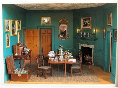 Mount Vernon Dining Room by 1 12 Scale Reproduction Of George Washington S Home At