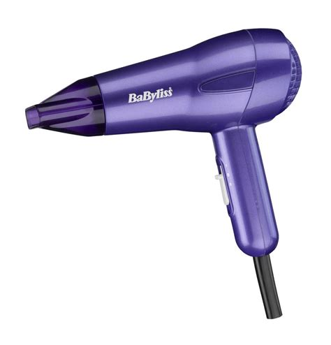 Babyliss Hair Dryer Used babyliss 5546bu 1200w nano hair dryer purple travel fast dryer mini lightweight hair dryer