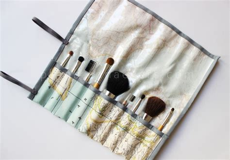 pattern paint brush roll 12 cool and simple diy makeup brush holders and rolls