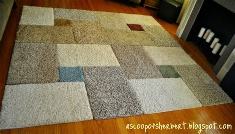 putting two rugs together she picked up carpet squares for 1 each and put them together to make something genius and