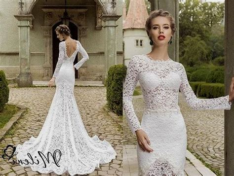 sexy lace wedding dresses with sleeves Naf Dresses