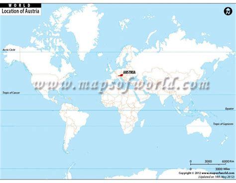 austria on the world map austria location on world map