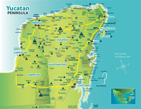map of mexico yucatan peninsula 14 best images about mexico on gardens