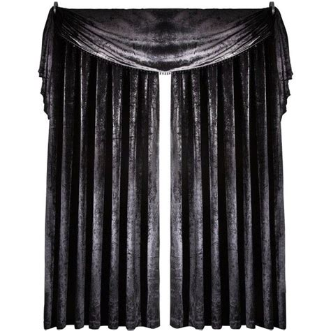 red curtain scarf curtain call velvet effect scarf valance 40 liked on