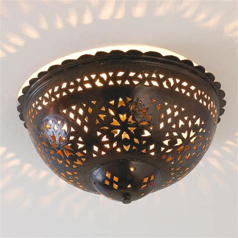 Punched Tin Ceiling Light by Moroccan Scalloped Punched Metal Ceiling Light Ceiling