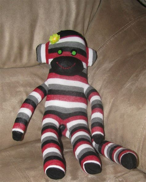sock monkeys 183 a monkey plushie 183 sewing on cut out keep