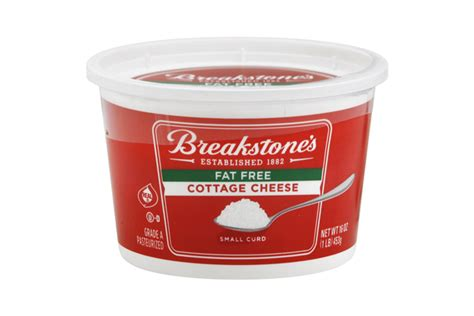 breakstone s small curd fat free cottage cheese 16 oz tub