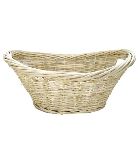 Organizing Essentials Oval Heavy Rim Willow Laundry Basket Willow Laundry