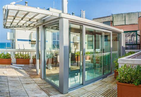veranda vetrata veranda a tutta vetrata per copertura accesso scala a