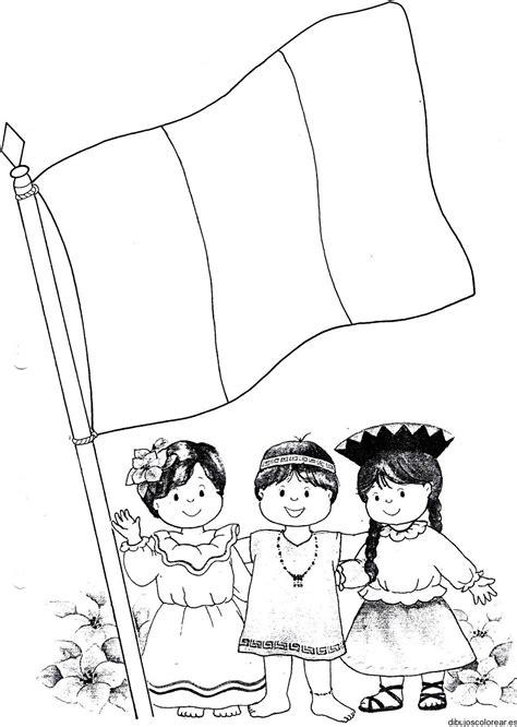 la bandera de peru para colorear banderas