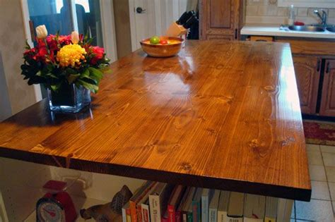 how to make a wood countertop kitchen