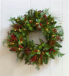 lighted outdoor wreath everlasting lighted berry pine wreath greenery