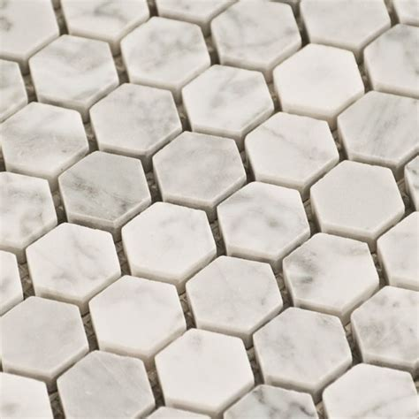 carrara marble hexagon tile design trends honeycomb