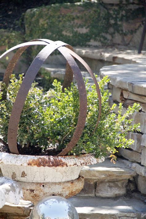metal garden metal garden orb re purposed omero home