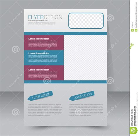 templates for a4 posters flyer template business brochure editable a4 poster