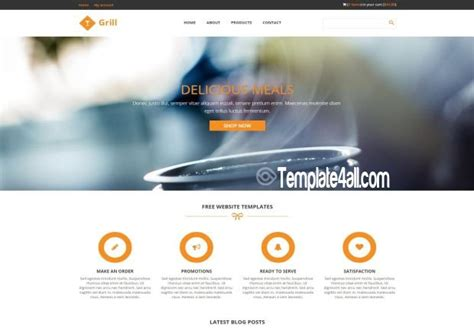 css template layout free download responsive restaurant css template download