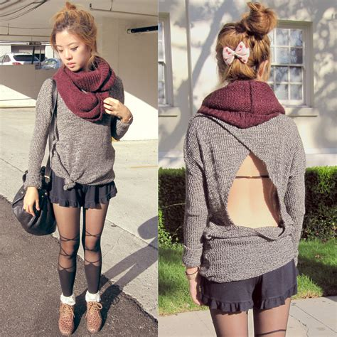 Brandy Melville Giveaway - eunice s brandy melville usa sweater tights falling leaves giveaway on my blog