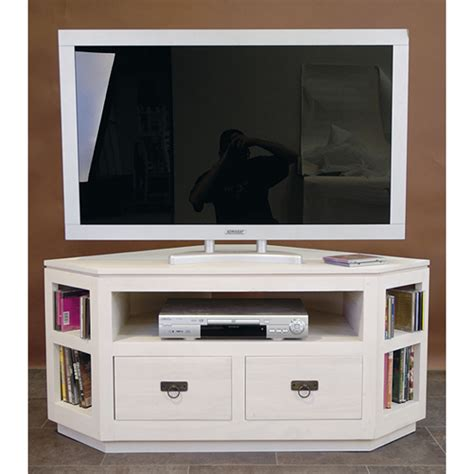 Meuble D Angle Tv by Meuble D Angle Tv Blanc Meuble Tv Hifi Bois Maisonjoffrois