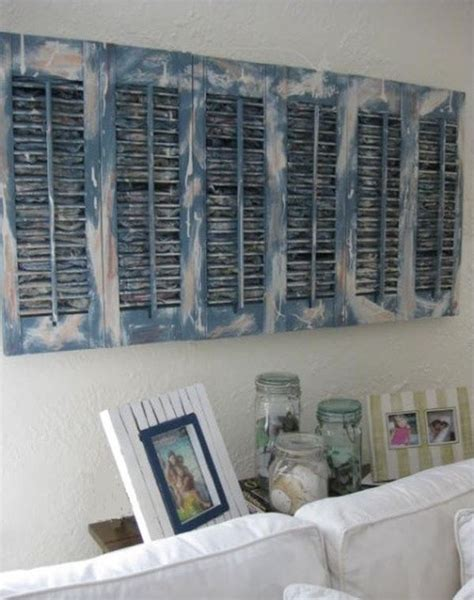 Shutter Wall Decor by Cottage Farmhouse Style How To Make It Trendy