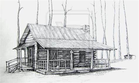 cabin sketch pencil drawings of small log cabins studio design
