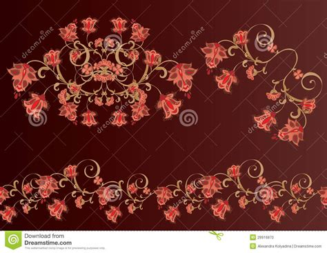 wallpaper classical elements classical floral elements stock photo image 28916870