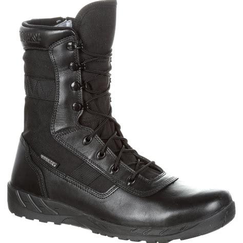 rocky c7 zipper waterproof black duty boots rkd0036