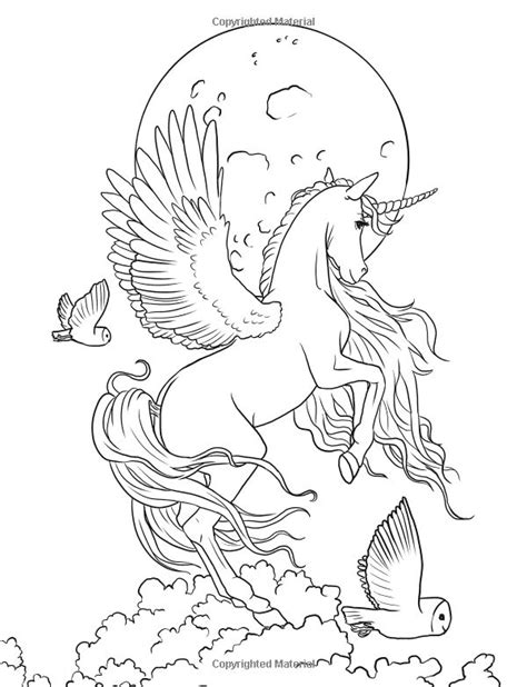 fairy unicorn coloring page fairy art adult coloring book coloring books enchanted