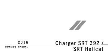 2016 Dodge Charger Owner S Manual Srt Pdf 634 Pages