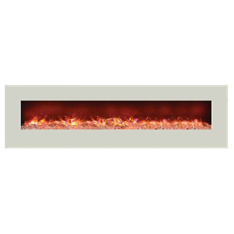 Amantii Electric Fireplace by Amantii Wall Mount Or Built In Electric Fireplace W 81x23 In White Glass Surround Wm