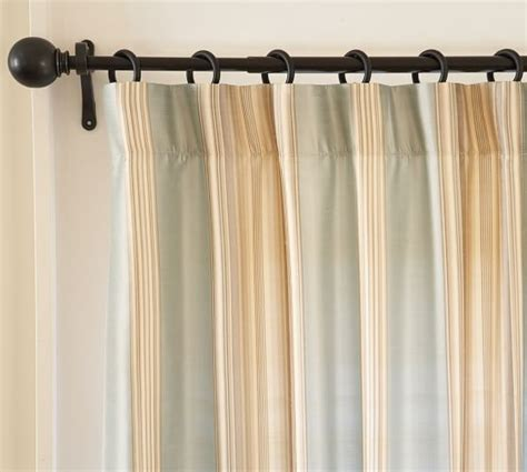 silk drape cole stripe silk drape pottery barn