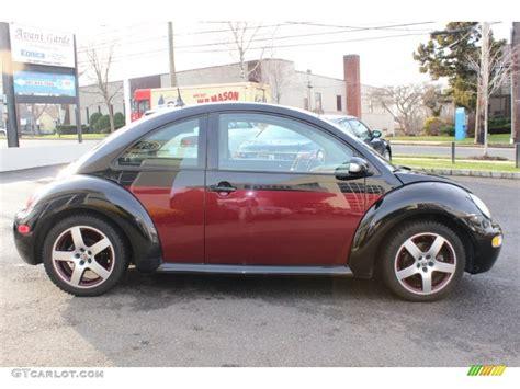 volkswagen new beetle red 2005 uni black winter red volkswagen new beetle bi color