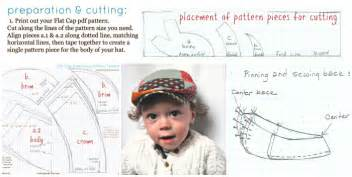 flat cap template something new boys newsboy hat sewing pattern