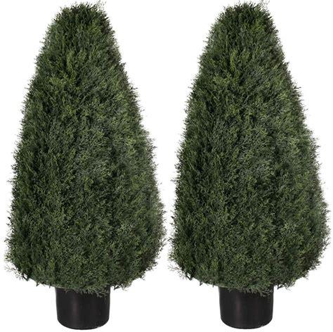 artificial  outdoor cypress cedar cone uv topiary